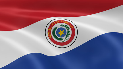 Paraguayan flag in the wind