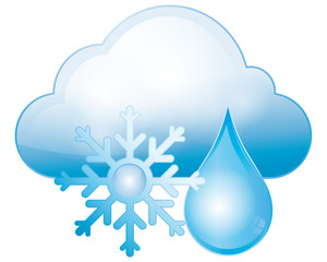 snow, cloud and rain, weather and climate
