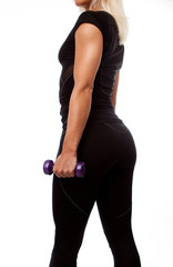Sexy body of athlete