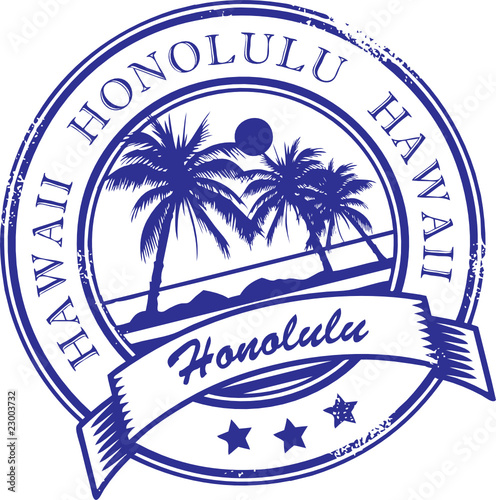 Stamp With Palms And The Word Hawaii Inside Vector Illustration Stock Image Royalty Free Files On Fotolia