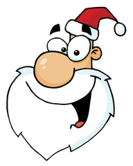 Santa Face Laughing, Facing Left