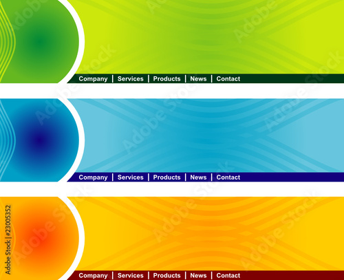concept and design web page header template stock image and royalty