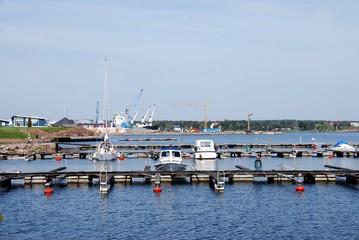 Oskarshamn  Schweden Hafen