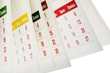 calendario con date