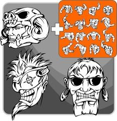 The pirate f.Mascot template.