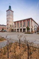 La place Max Lejeune devant la Mairie d'Abbeville