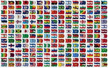 World Flags Set - with clipping path for each flag