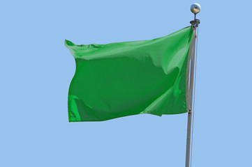 Wall Mural - Green Flag