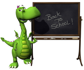 baby dragon green  back to school
