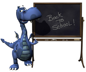 baby dragon blue  back to school