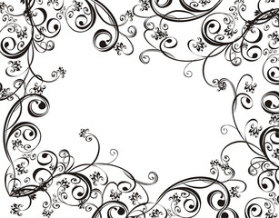 Frame  with floral ornament, vector