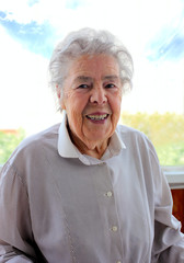 Portrait of senior smiling woman