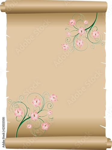 Pergamena Decorata Decorated Parchment Background Vector Immagini E