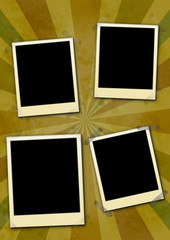 Photo Frames on Grungy Background