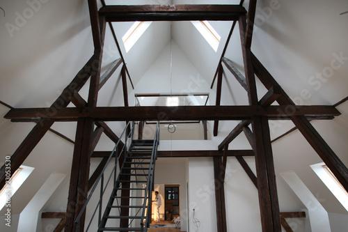 ausbau dachgeschoss stockfotos und lizenzfreie bilder auf bild 23053530. Black Bedroom Furniture Sets. Home Design Ideas