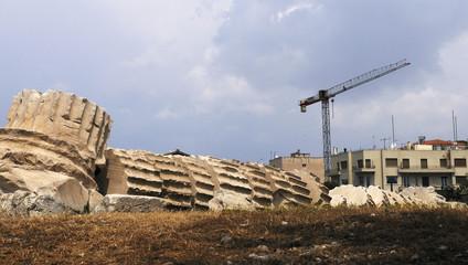 construction et déconstruction à Athènes