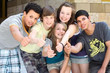 Jugendliche in der City