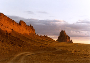A Road Along a Volcanic Dike to Shiprock
