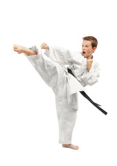 Aluminium Prints Martial arts Martial arts boy