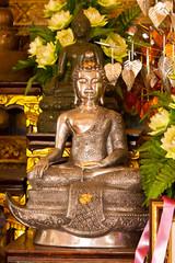 silver buddha image