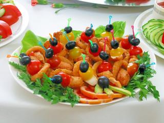 Закуска с овощами