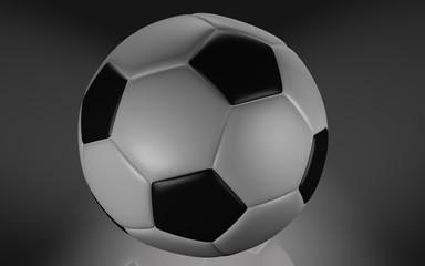 balón futbol tradiciónal 3d.