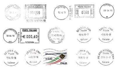 Italian Postmarks (blacks)