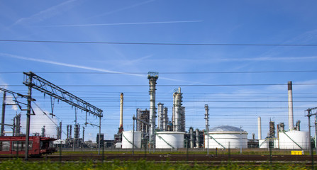 oil refinery in rotterdam, the netherlands
