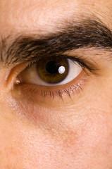 Macro eye shot of a young male