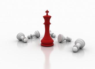 Chess king standing