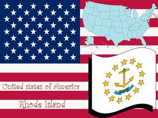 rhode island state illustration