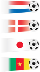 Soccer World Cup Group E Teams  clipart (other groups availabel)