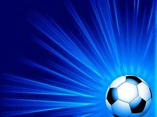 Football and blue neon starburst