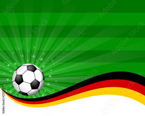 Plakat Fussball Feld Deutschland I Stock Image And Royalty