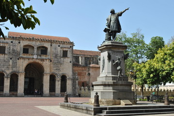 columbus and cathedral, santo domingo