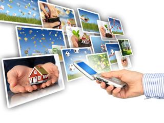 Multimedia concept.