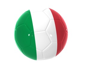 pallone con bandiera italiana