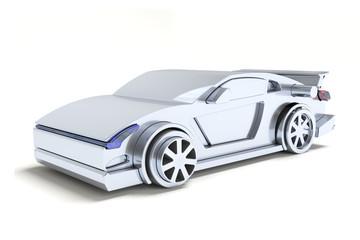 Puzzle crazy car