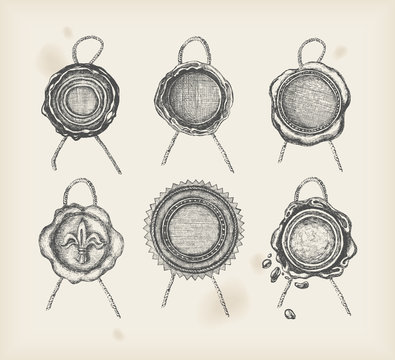 Wax seal - drawing