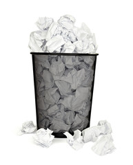 paper ball waste paper bin office business