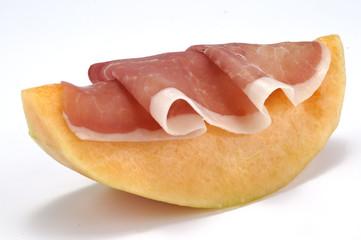 Fetta di melone con prosciutto