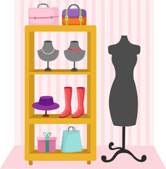 mannequin and accessories of women