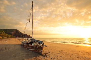 épave sur la plage