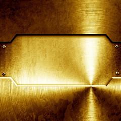 shiny golden plate