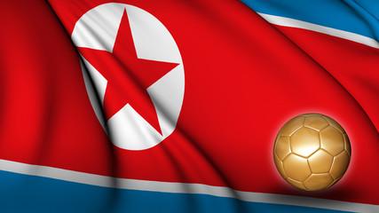 North Korea soccer flag