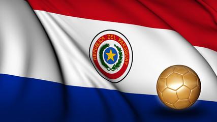 Paraguay soccer flag