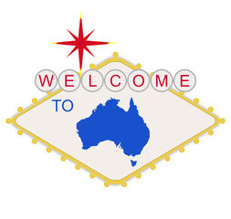 Welcome to Australia sign