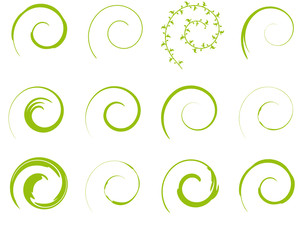 Printed kitchen splashbacks Spiral grün Flora Spirale