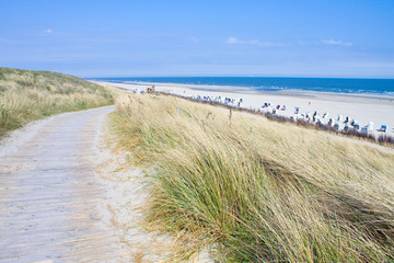 Fototapete - Idyllischer Tag an der Nordsee im Sommer