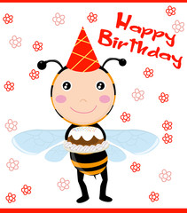 cute bee and cake